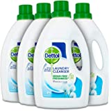 Dettol Antibacterial Laundry Cleanser Fresh Cotton 1.5 L, Pack of 4