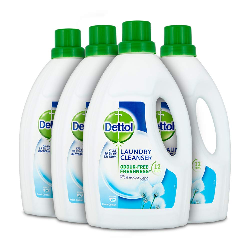 Dettol Antibacterial Laundry Cleanser Fresh Cotton 15 L Pack Of 4