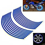 CycleMore 8mm Reflective Rim Tape Wheel Stripe Decal Trim For Bike Motorcycle Car 16