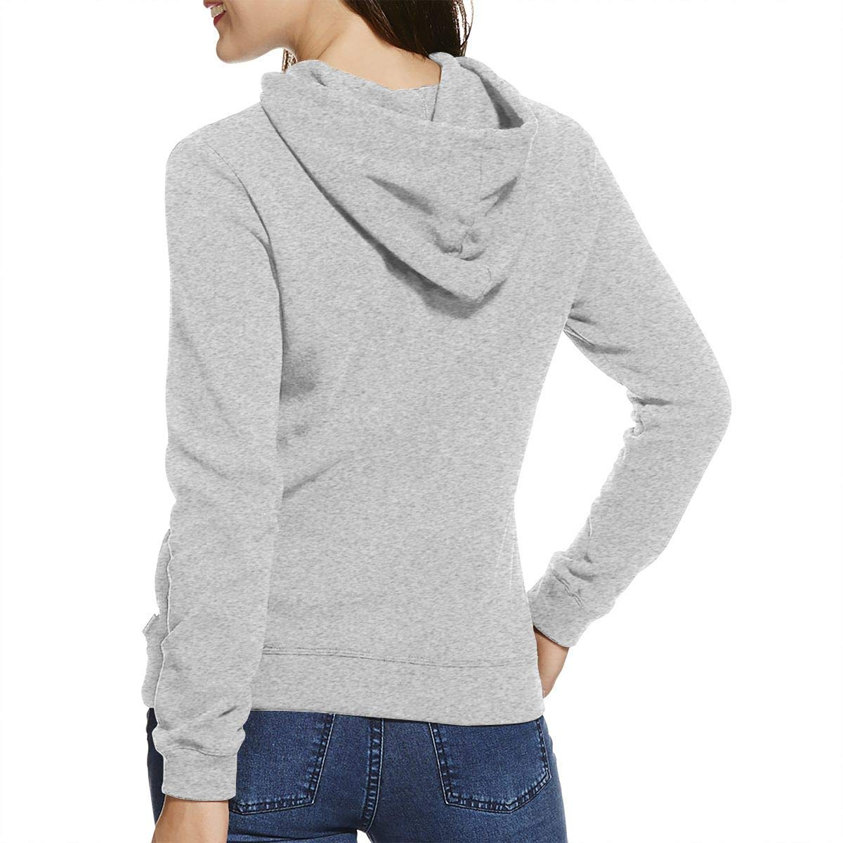 Younger man FAI-ry Ta-il Dont Worry Be Happy Womens Long Sleeve Casual Hooded Sweatshirt with Drawstring Gray