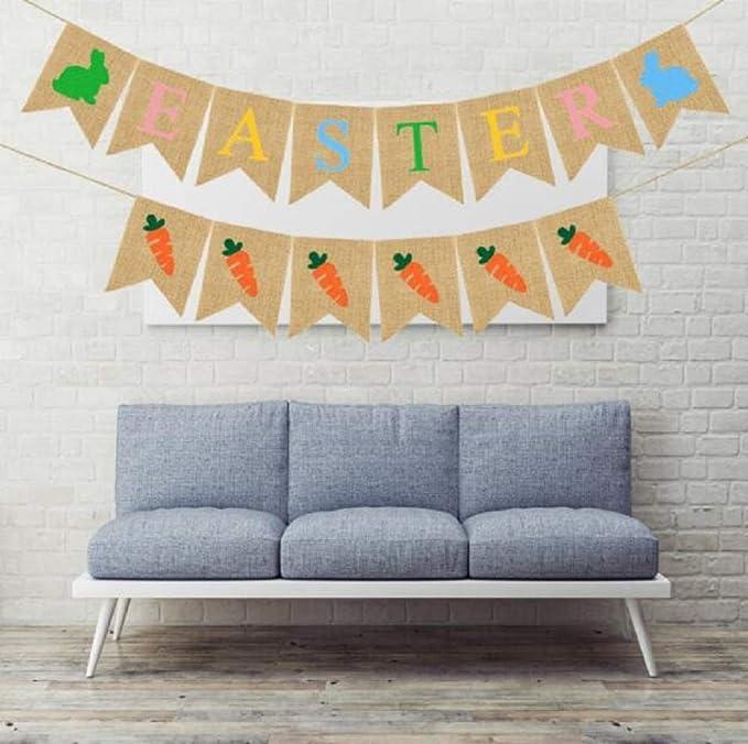 Amazon.com: Decoración de fiesta de Pascua – Pancarta de ...