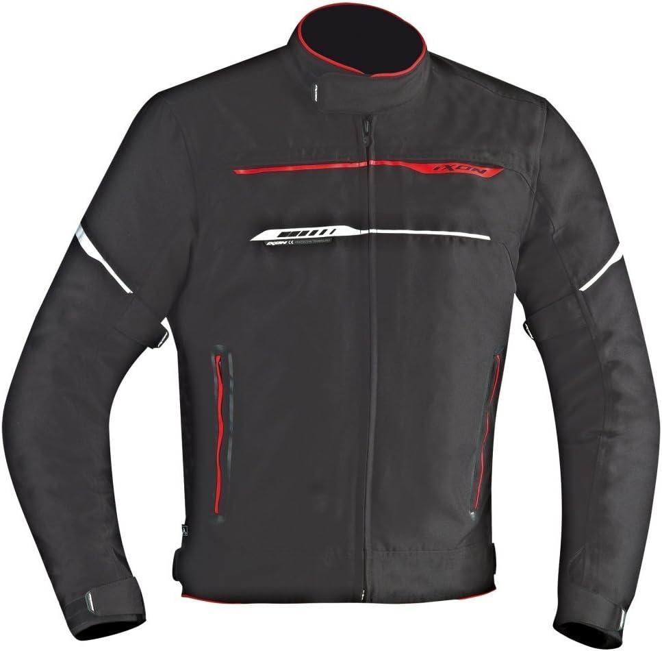 nero//rosso Ixon Giacca da moto ZSummerc Hp nero//rosso S