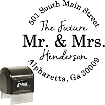 Newlywed Address Stamp Personalized Rubber or Self Inking Stamp New Mr /& Mrs Address Stamp Wedding Custom Rubber or Self Inking Stamp