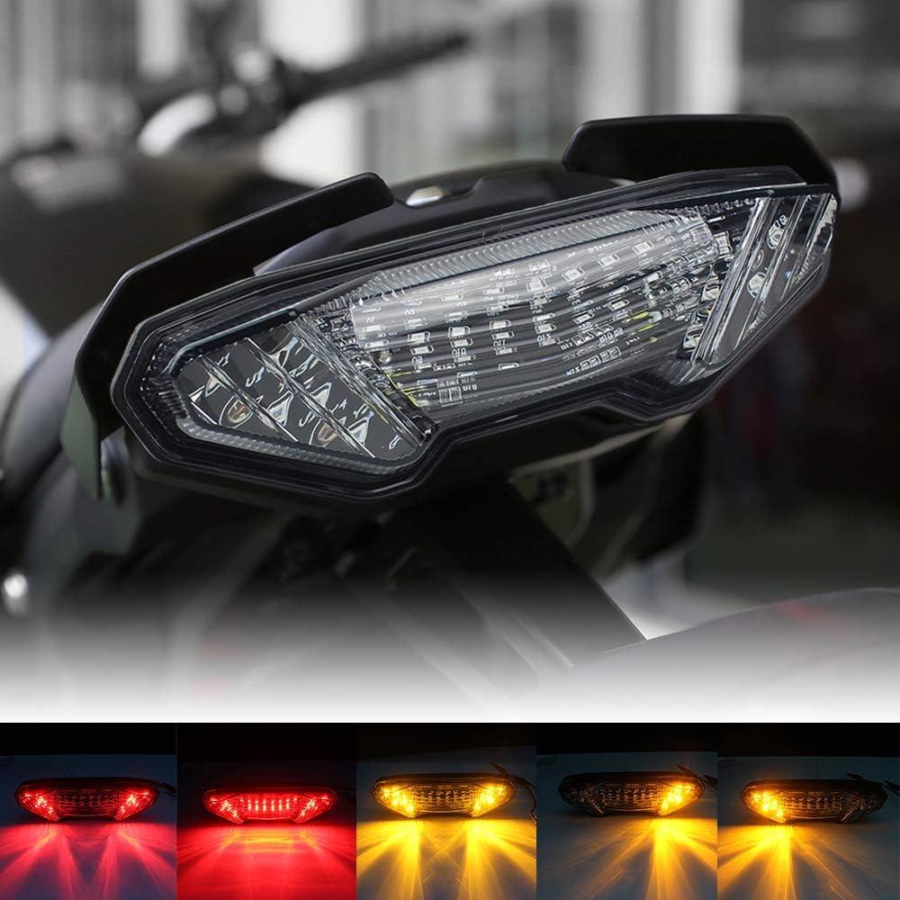 Atubeix motorcycle LED smoke tail lights Brake Running Lamp compatible with 2006-2009 Yamaha YFZ450