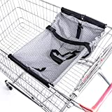 Aminiture Foldable Baby Shopping Cart Hammock Toddler Trolley Pad Baby Shopping Push Cart Protection Cover Infant Trolley Chair Seat Mat