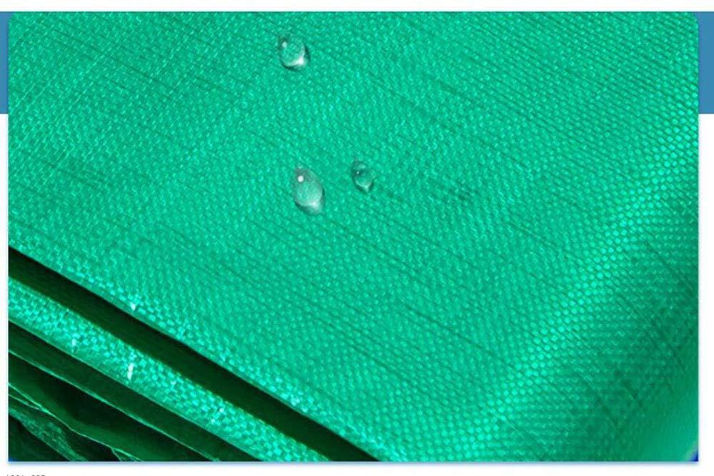 MYMAO 001Telone Impermeabile Tela Rivestita in PVC, asola Facile da Piegare in polietilene PE telone Isolante in Tessuto,4mx6m