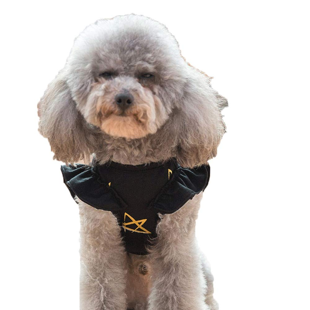Black 4533cm Black 4533cm FXNN Pet Clothes Dog Clothes Small Dog Vest Spring and Summer Thin Section (color   Black, Size   45  33cm)