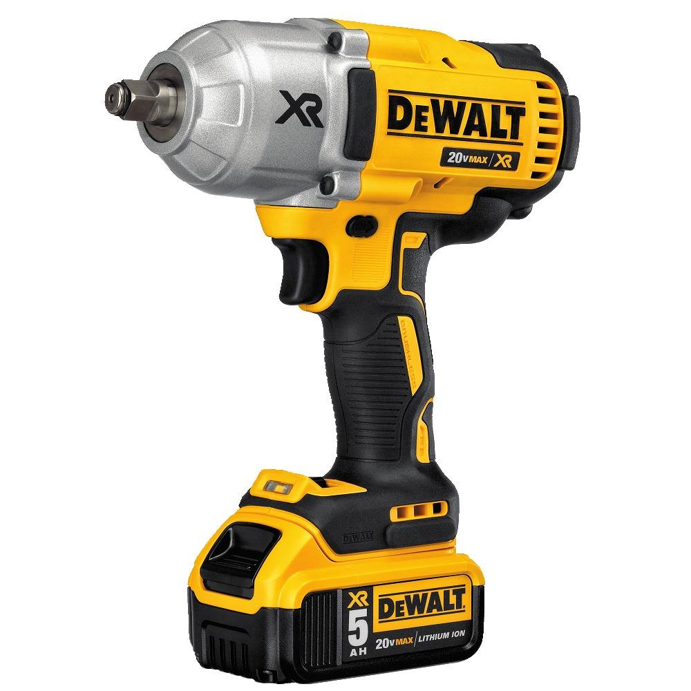 DEWALT DCF899HP2 20V MAX XR Brushless High Torque 1/2'' Impact Wrench Kit with Hog Ring Anvil