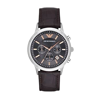 76f492d6c Amazon.com: Emporio Armani Men's AR2513 Dress Brown Leather Quartz ...
