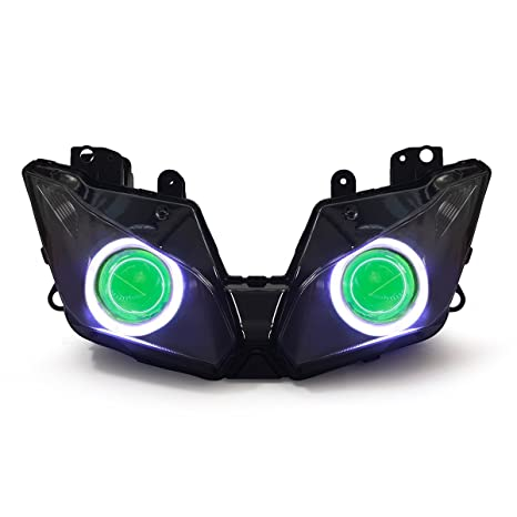 Amazon.com: KT LED Angel Eye Headlight Assembly for Kawasaki ...