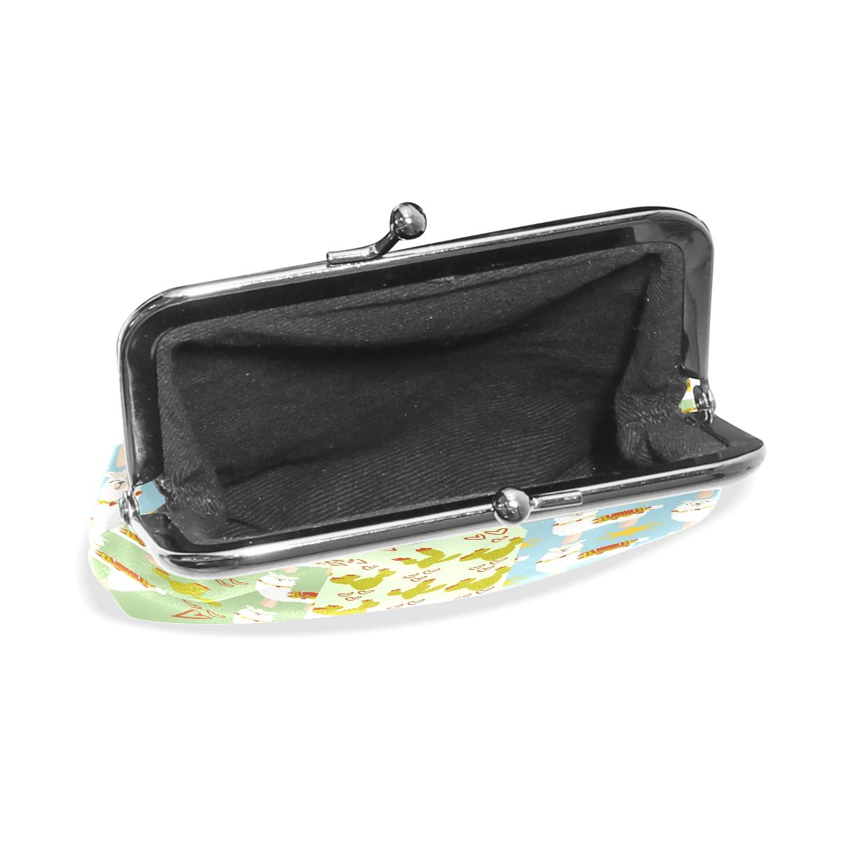 LALATOP Lamas And Cacti Patterns Womens Coin Pouch Purse wallet Card Holder Clutch Handbag