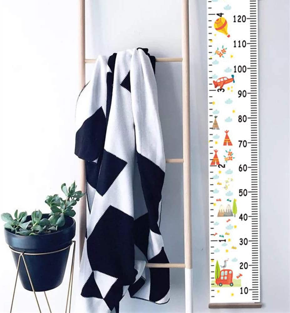 Nordic Children Height Ruler Hanging Canvas Growth Chart Kids Room Nestroom Wall Decor Ornaments