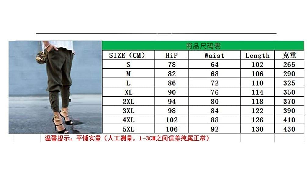 Comaba Women Casual Leisure Harem Pants Plus Size Long Pants Harem Pants