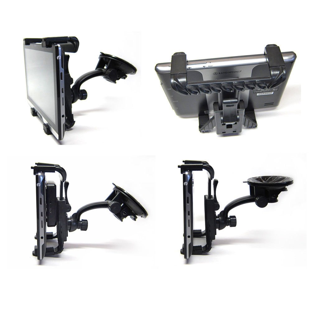Ramtech Car Vehicle Truck Adjustable Windshield Suction Mount Holder Bracket Stand Suitable For Rand McNally OverDryve 7 7c GPS (Note: Fits GPS and Powered Magnetic Mount) - WMB7