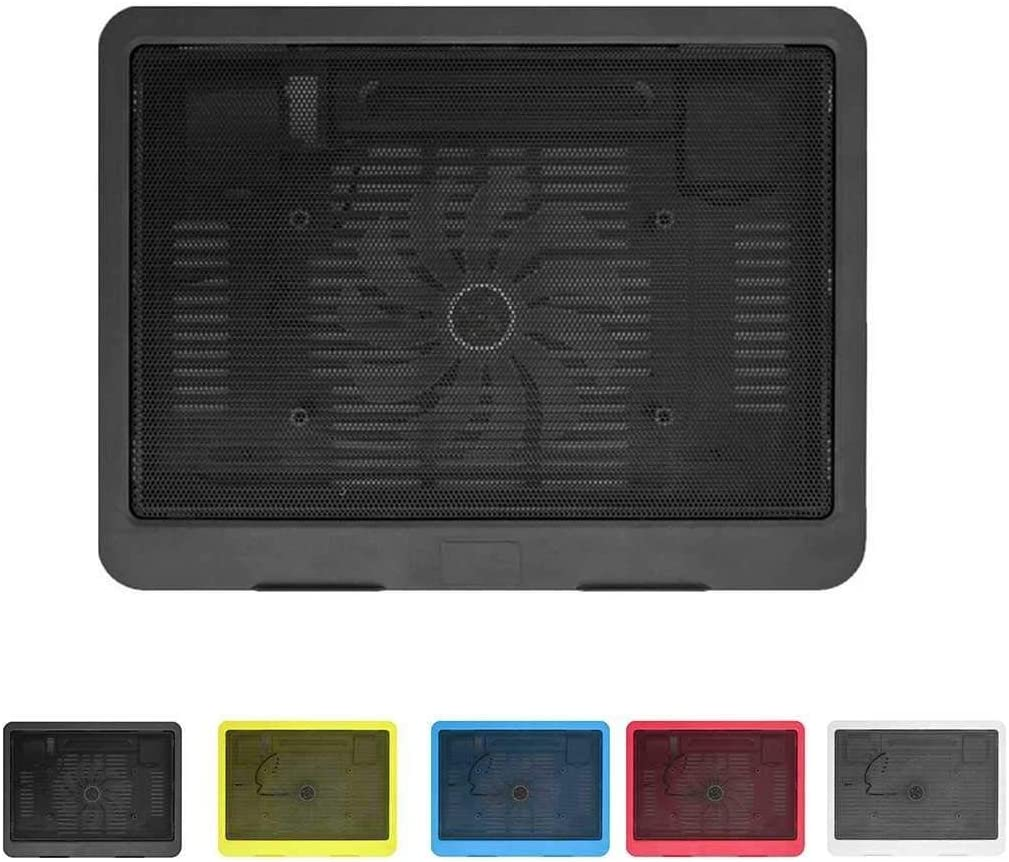 Ultra Thin Laptop Cooling Pad Adjustable Stand Notebook Ventilation Fan USB Computer Bracket Cooler United States//Black Color : Black, Size : United States Small and lightweight laptop radiator