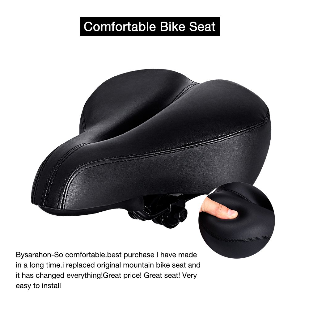 most thicken saddle cushion cycling bicycle comforter wide asiento mountain bicicleta pin bike comfortable seat mtb soft sponge