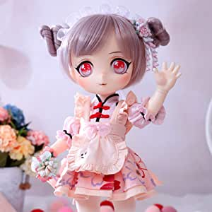 """HGFDSA 1/6 BJD Doll Full Set 29Cm 11.4"""" Ball Joints SD Dolls DIY Toy Action Figure with All Clothes Shoes Wig Hair Makeup Surprise Birthday Gift"""