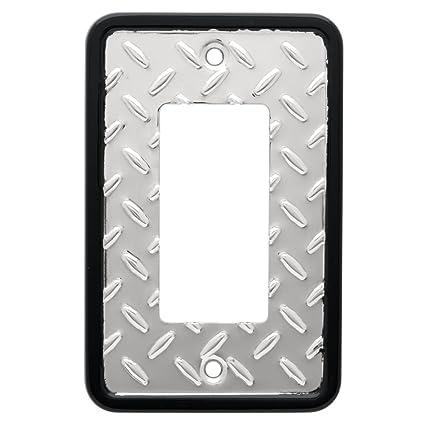 Franklin Brass 135860 Diamond Plate Single Decorator Wall Plate