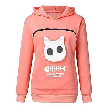 Amazon.com: Qiwind - Sudadera con capucha para gato ...