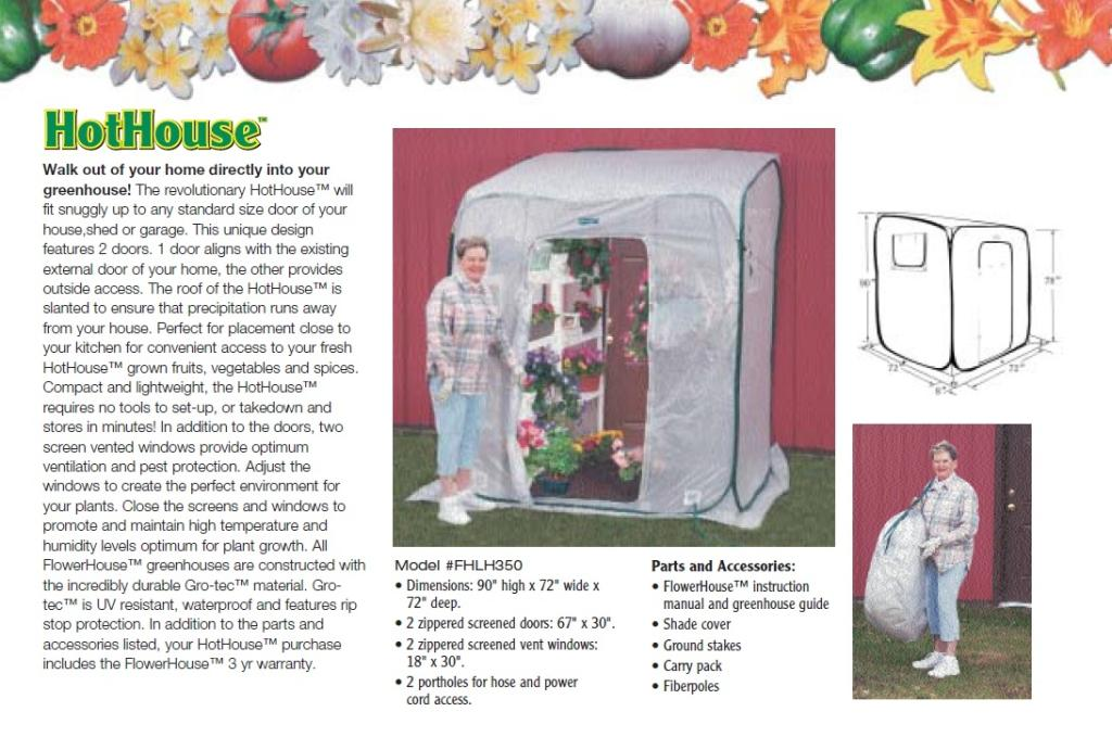 Amazon.com : Flower House FHHH350 HotHouse Pop-Up Walk-In ...