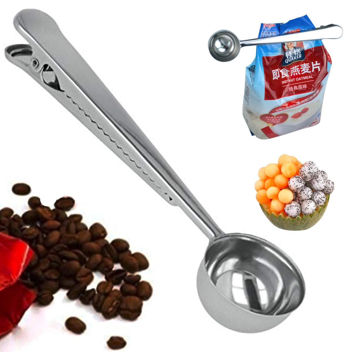HELADO fabricado efly Premium Acero Inoxidable Cuchara De Café Y Cuchara de té con clip Bolsa integrado