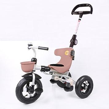 Triciclos Trike Kids 3 Wheels niños Bicicleta 1-4 años Carrito para bebés Trolley Bicicleta para niños (Color : Color Cafe) : Amazon.es: Juguetes y juegos