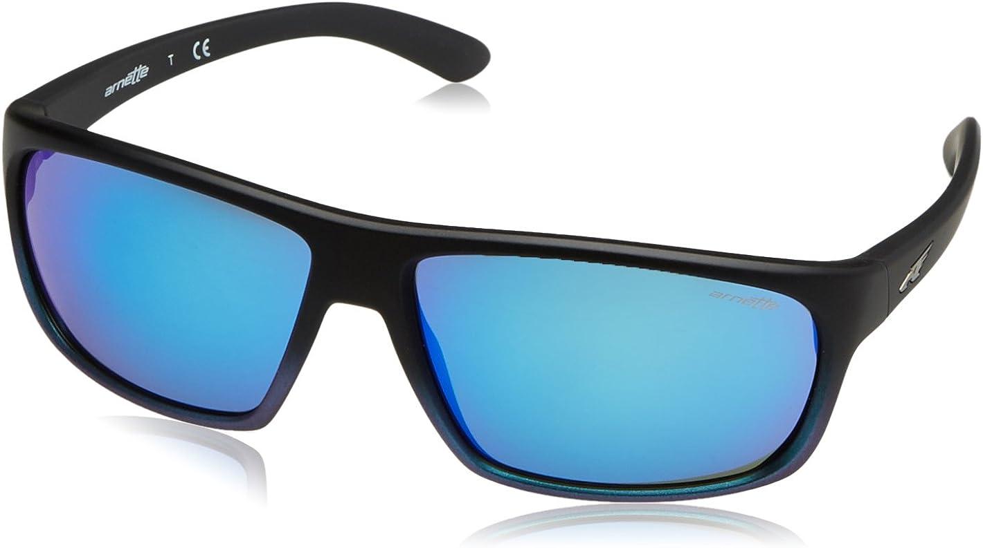 ARNETTE Burnout gafas de sol, Black Grad Shot Blue, 64 para Hombre