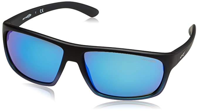 Arnette Burnout Gafas de sol, Rectangulares, 64, Black Grad Shot Blue: Amazon.es: Ropa y accesorios
