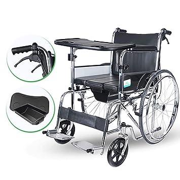 DPPAN Drive Medical Transport Silla de ruedas Tubería de acero portátil, plegable y liviana para