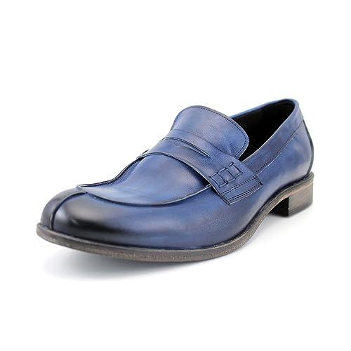 GIORGIO REA Zapatos Para Hombre Hechos a Mano EN Italia La Alta Costura, Mocasines Casuales