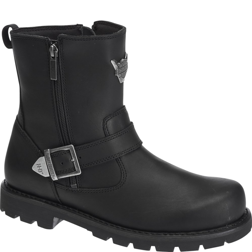Harley Davidson Flagstone D93307 Leather Mens Boots W Black 41