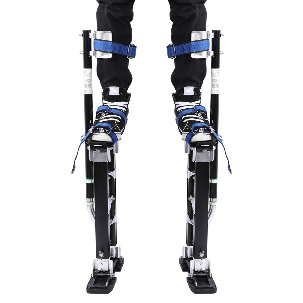 24'' - 40'' Drywall Stilts, Max Safety Drywall Plastering Tool for Sheetrock Painting, Cleaning(Black)