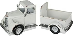 AHD Antique White Truck Decorative Bookends Plant Holder