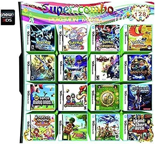 NDS 208 en 1 Tarjeta de Consola de Cartucho de Videojuegos para Múltiples Juegos Mini tarjeta de memoria