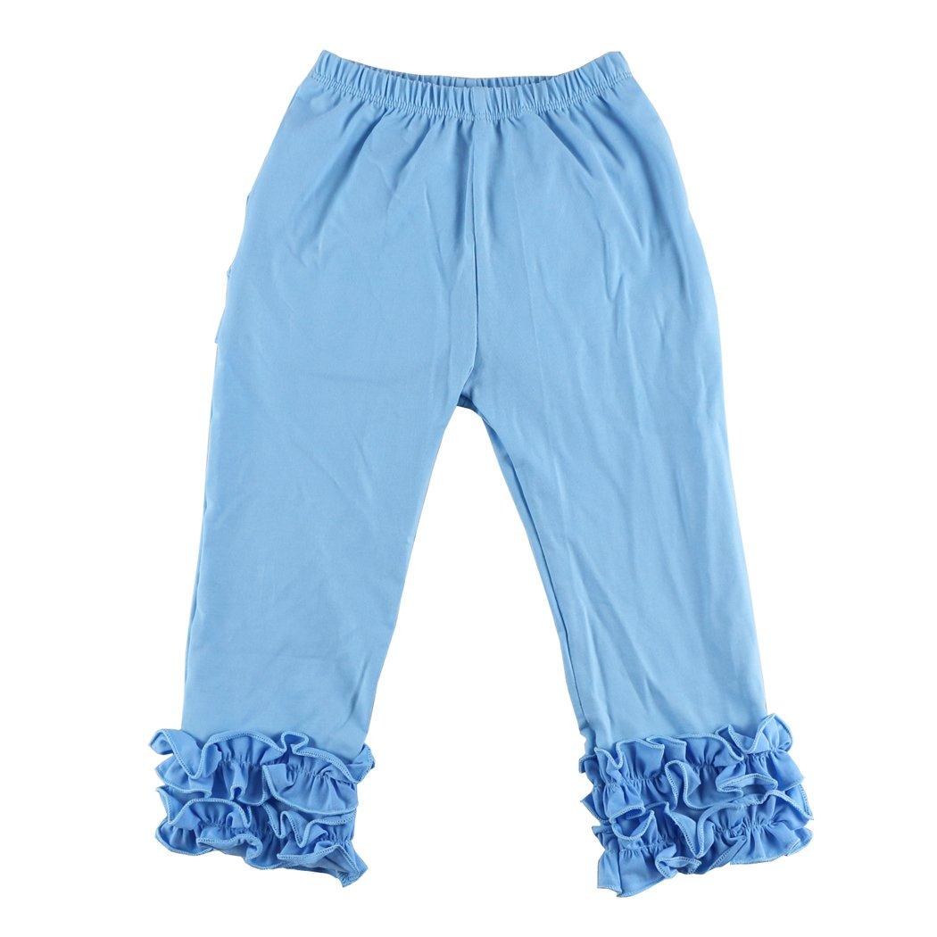 VduanMo Little Girl's Ruffle Leggings Toddler Girl Ruffle Pants 1-6 Years VDM-616