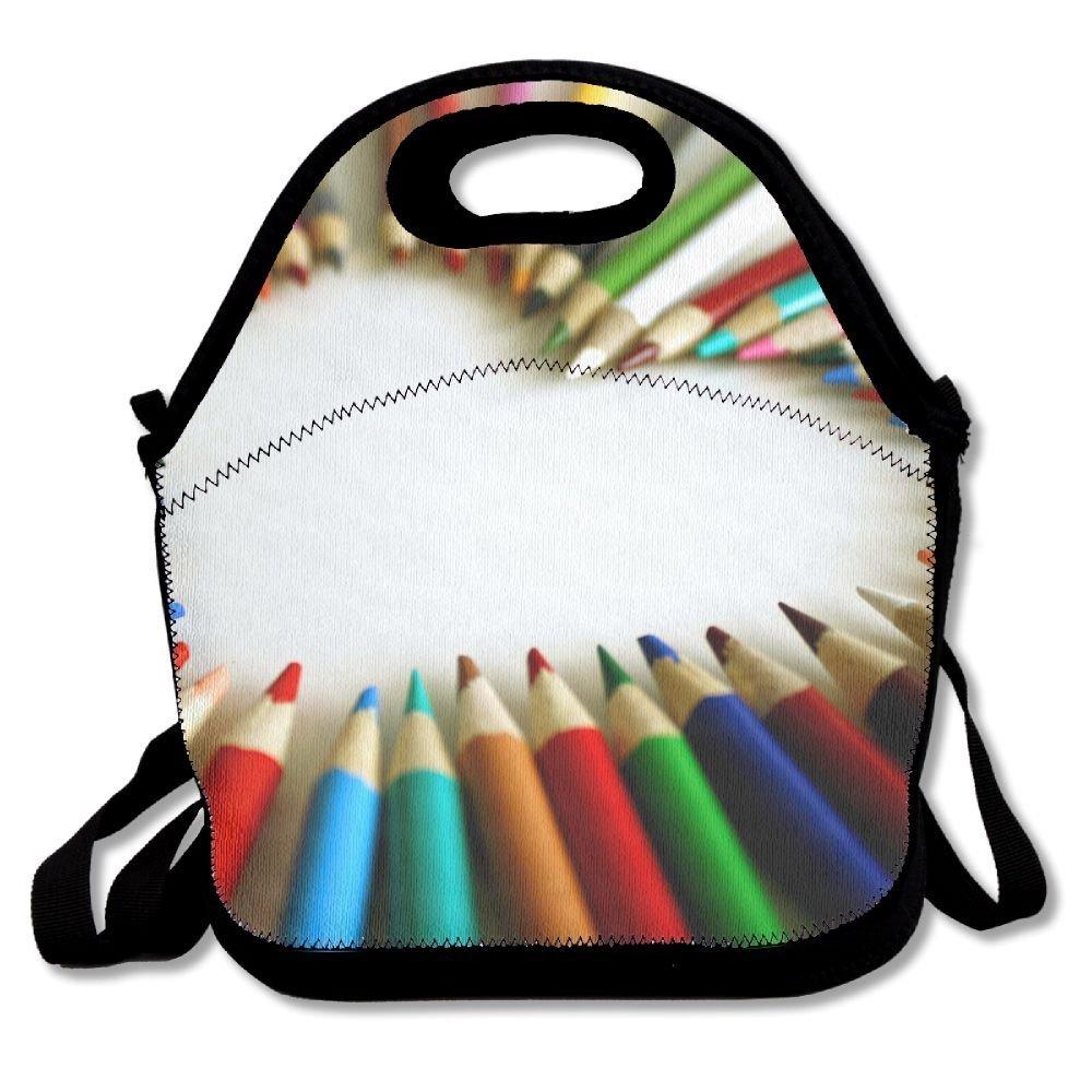 eff80ddecc18 Amazon.com: Rainbow Crayon Love Heart Portable Carry Insulated Lunch ...