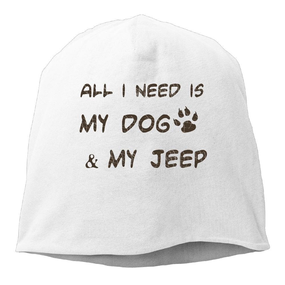 All I Need is My Dog and My Jeep Ski Hats Beanie Cap Winter Slouchy Unisex