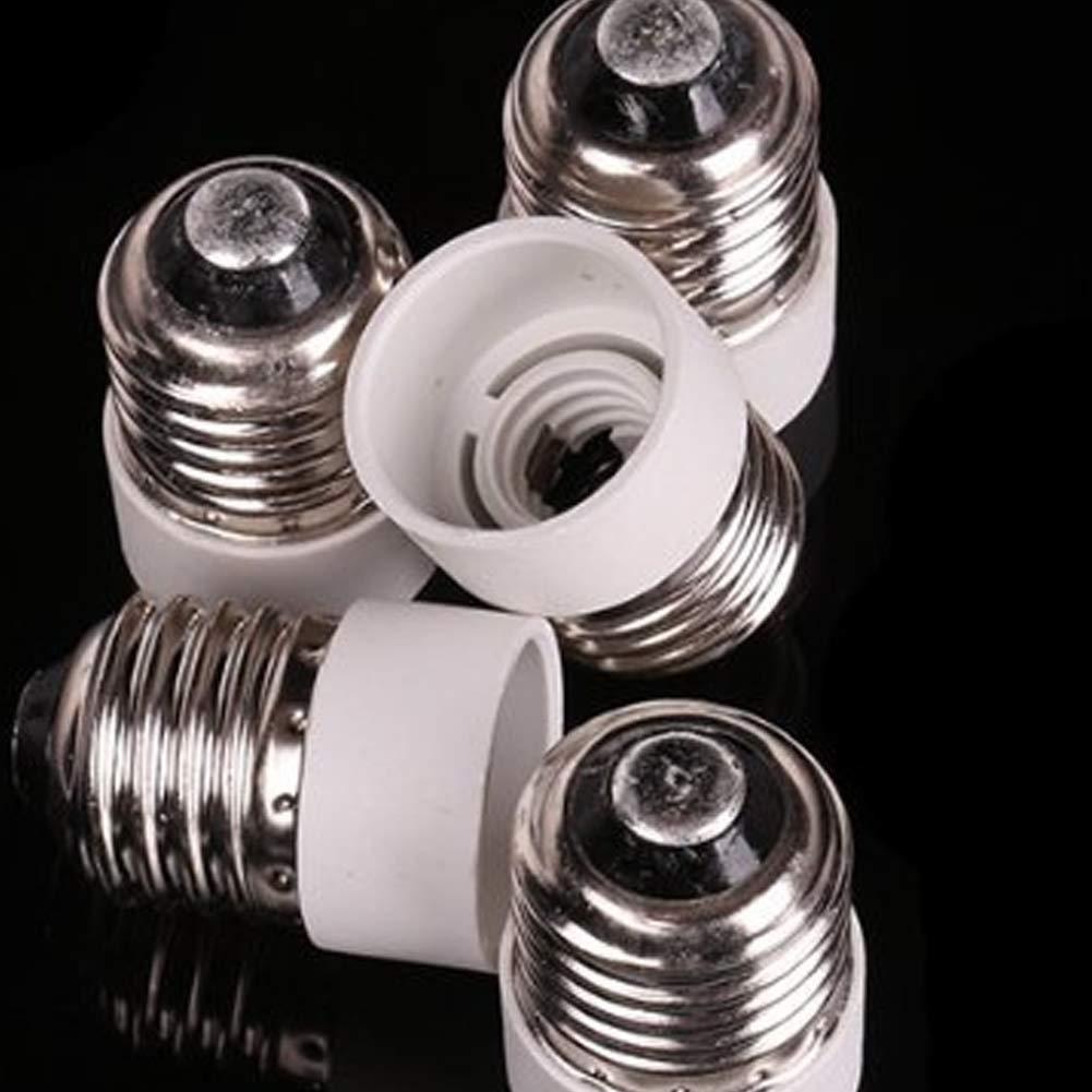 5 St/ück E27 auf E14 Sockel-Adapter Adapter Konverter Reduzierer mittlere Schraube auf Zwischensockel
