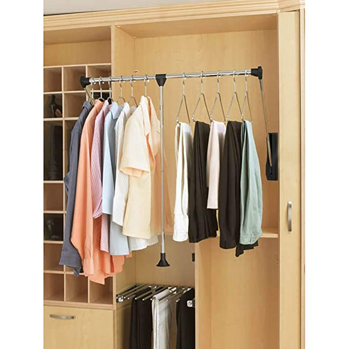 Amazon.com: Barras de closet ajustables y abatibles, marca ...