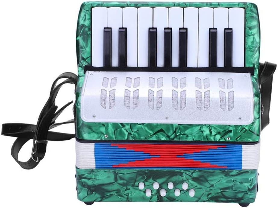 RONSHIN 17 Key Professional Mini Accordion Educational Musical Instrument for Both Kids Adult Navy Blue