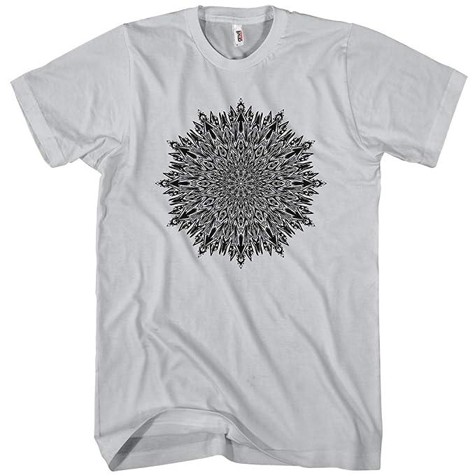 1a6eb2584e3f Smash Transit x Beery Method Men's Centaurus Mandala T-Shirt - Silver, X-
