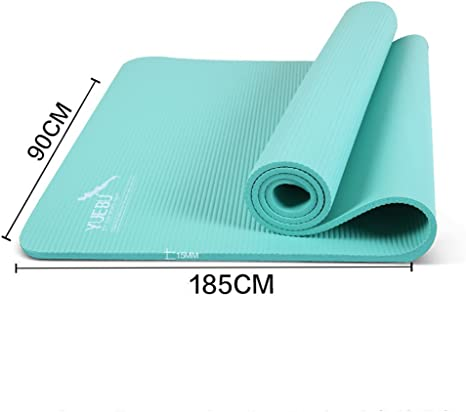 Yuebu 36 Inch Length 18mm Extra Thick High Density Exercise Yoga Plank Mat Plank Amazon Co Uk Sports Outdoors