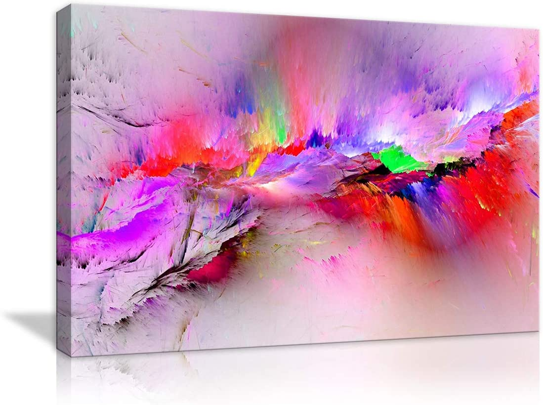 Modern Purple Abstract Canvas Print Painting Home Decor Wall Art Picture