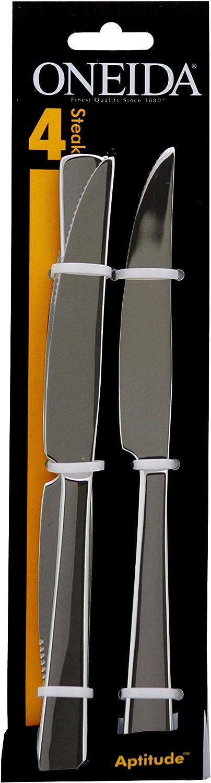 Amazon Com Oneida Aptitude Everyday Flatware Steak Knives 18 0 Stainless Steel Set Of 4 Silverware Set Flatware Sets