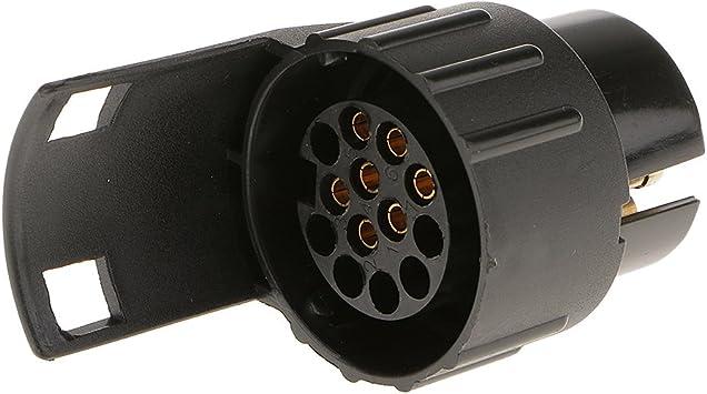 Homyl Presa per Rimorchio Luce Corta Adattatore Spina 7 Pin RV Blade To 13 Pin 12V