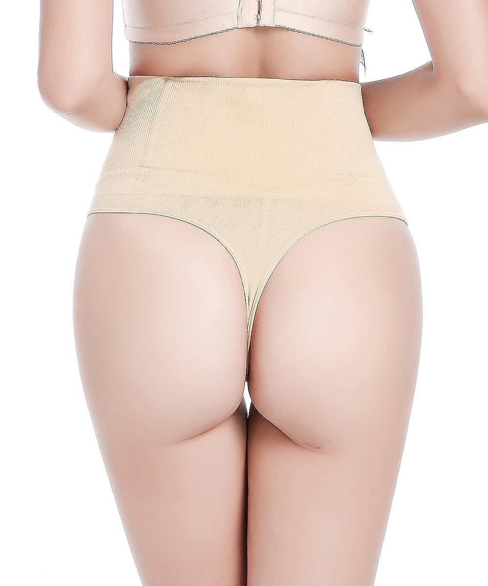 f2f7d6d7678 FLORATA Women Sexy Tummy Control Shaper High Waist Body Shapewear Briefs Underwear  Thong at Amazon Women s Clothing store