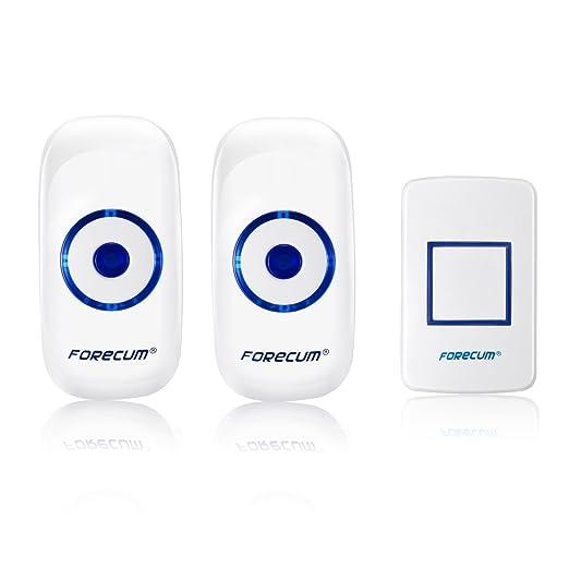 QUMOX Inalámbrico Portátil Receptor gemelo de Timbre de puerta de Hogar: Amazon.es: Electrónica