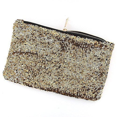 Bridesmaid Evening Luxury Bag Glittering Clutch Wedding Bag Gold Sequinned Women's Party Purse 5qFzSt