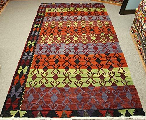 Decorative Vintage Kilim rug 11,8x5,6 feet Area rug Old Rug Bohemian Kilim Rug Floor rug Sofa Decor Rustic Kilim Rug