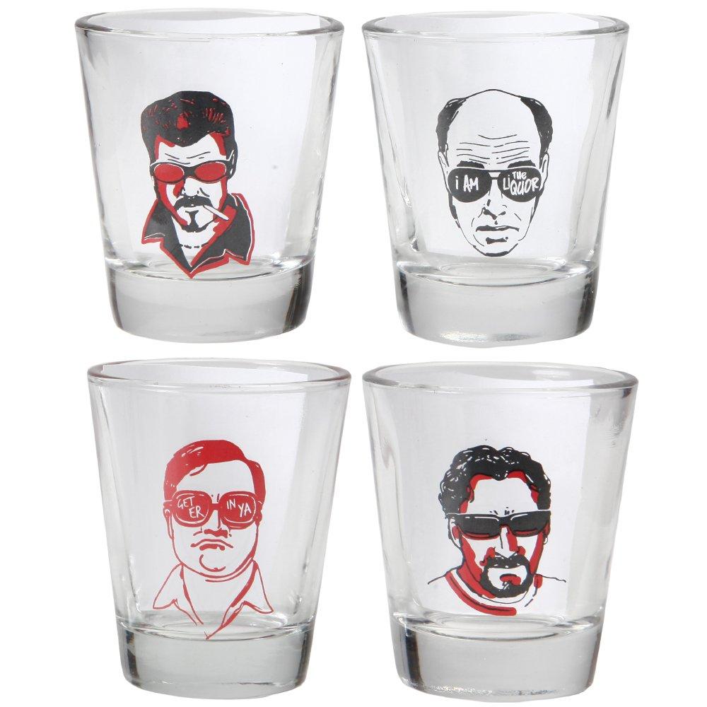 4bf3d6cb390d Trailer Park Boys Julian Ricky Bubbles Lahey Shot Glasses - Set of 4   Amazon.co.uk  Kitchen   Home